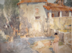 sir william russell flint mill pool st. jean de cole limited edition print