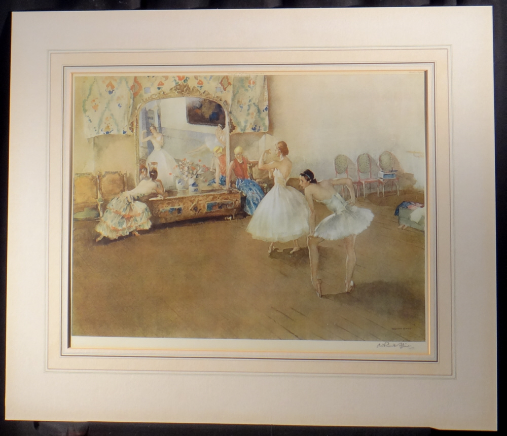 russell flint mirror of the ballet print mounted