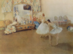 sir william russell flint, Mirror of the Ballet, signed limited edition print
