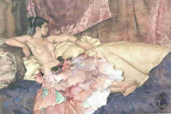 russell flint model for elegance print