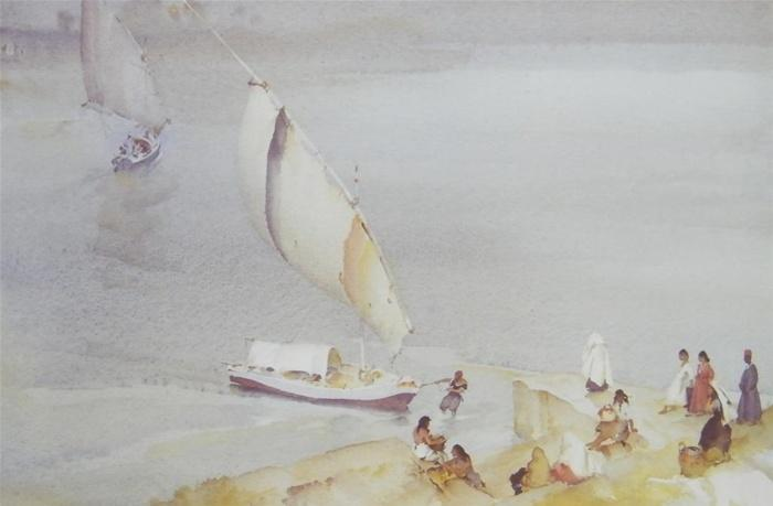 sir william russell flint Nile ferry