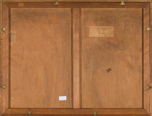 russell flint, original painting, the high shelf, France, verso