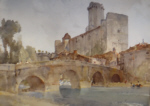 sir william russell flint Bourdeilles sur Dronne originals watercolours paintings