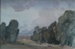 sir william russell flint original-compiegne watercolour painting