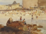 russell flint the crowded beach