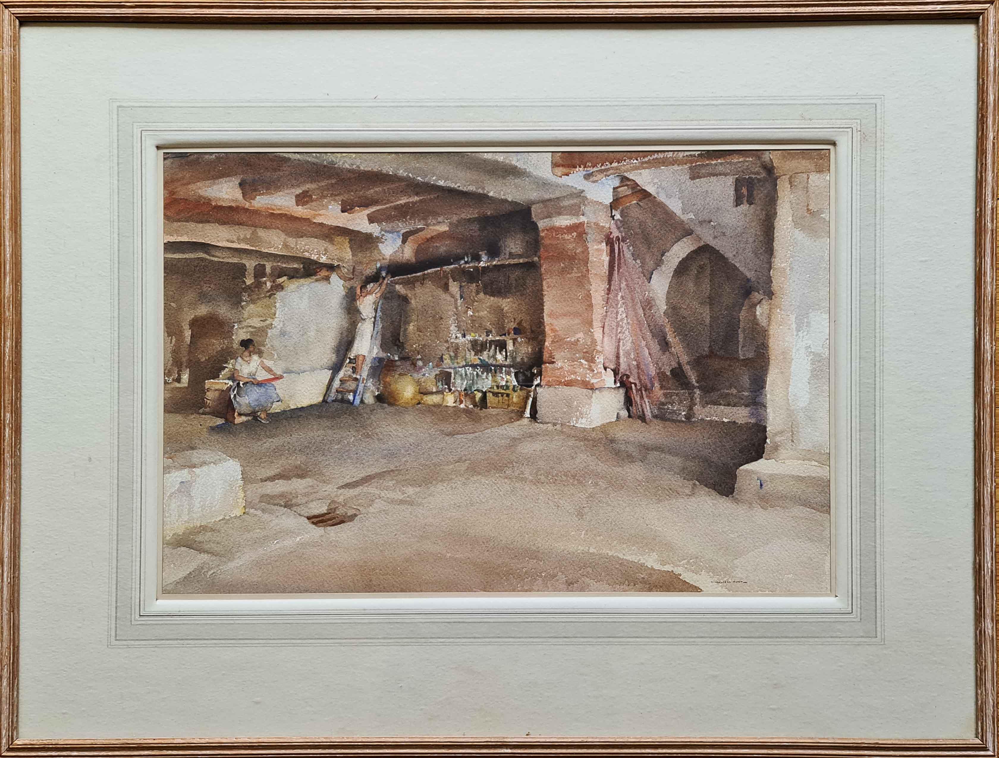 russell flint, original painting, the high shelf, France