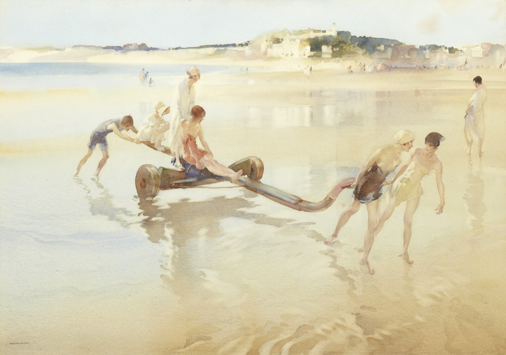 russell flint watercolour, mock toil