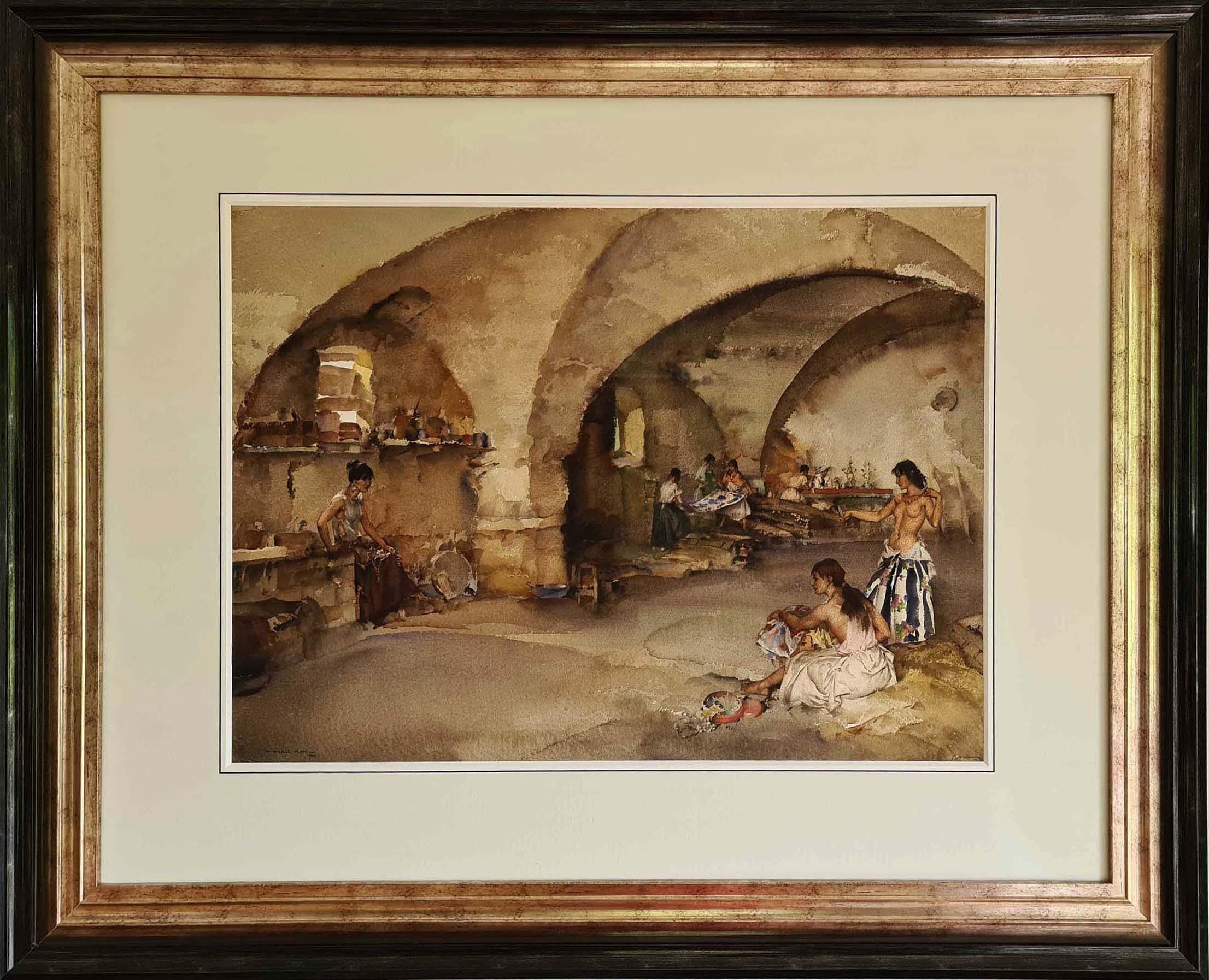 sir william russell flint paintings, la cave