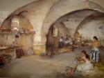 sir william russell flint la cave vout�e originals watercolour painting