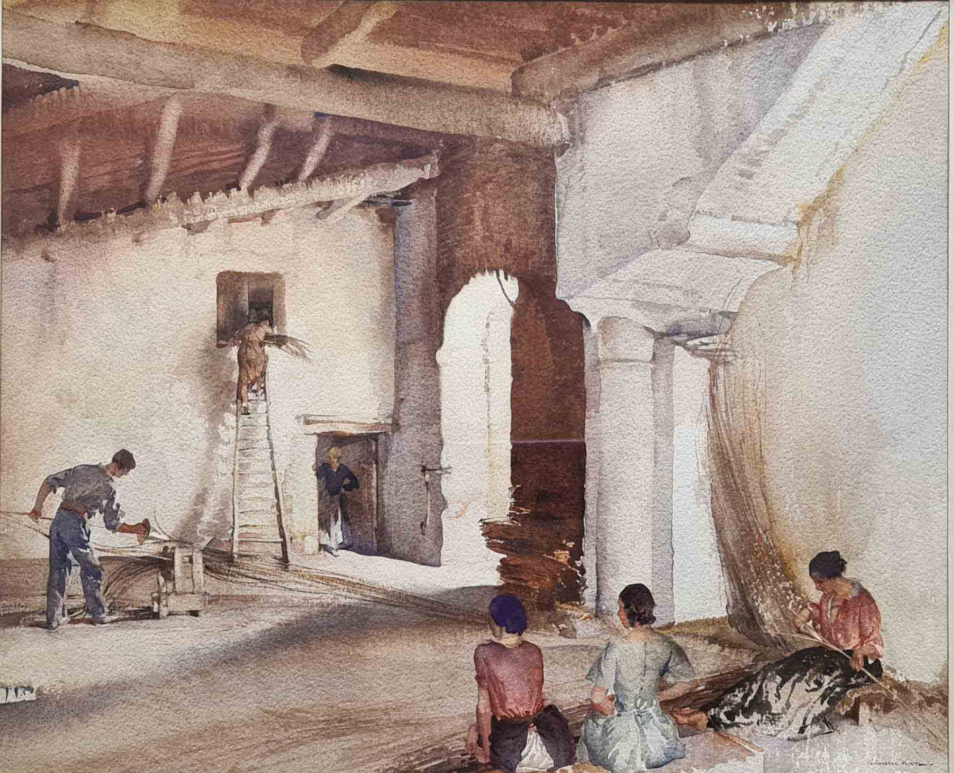sir william russell flint, osier en Provence, France, original watercolour painting
