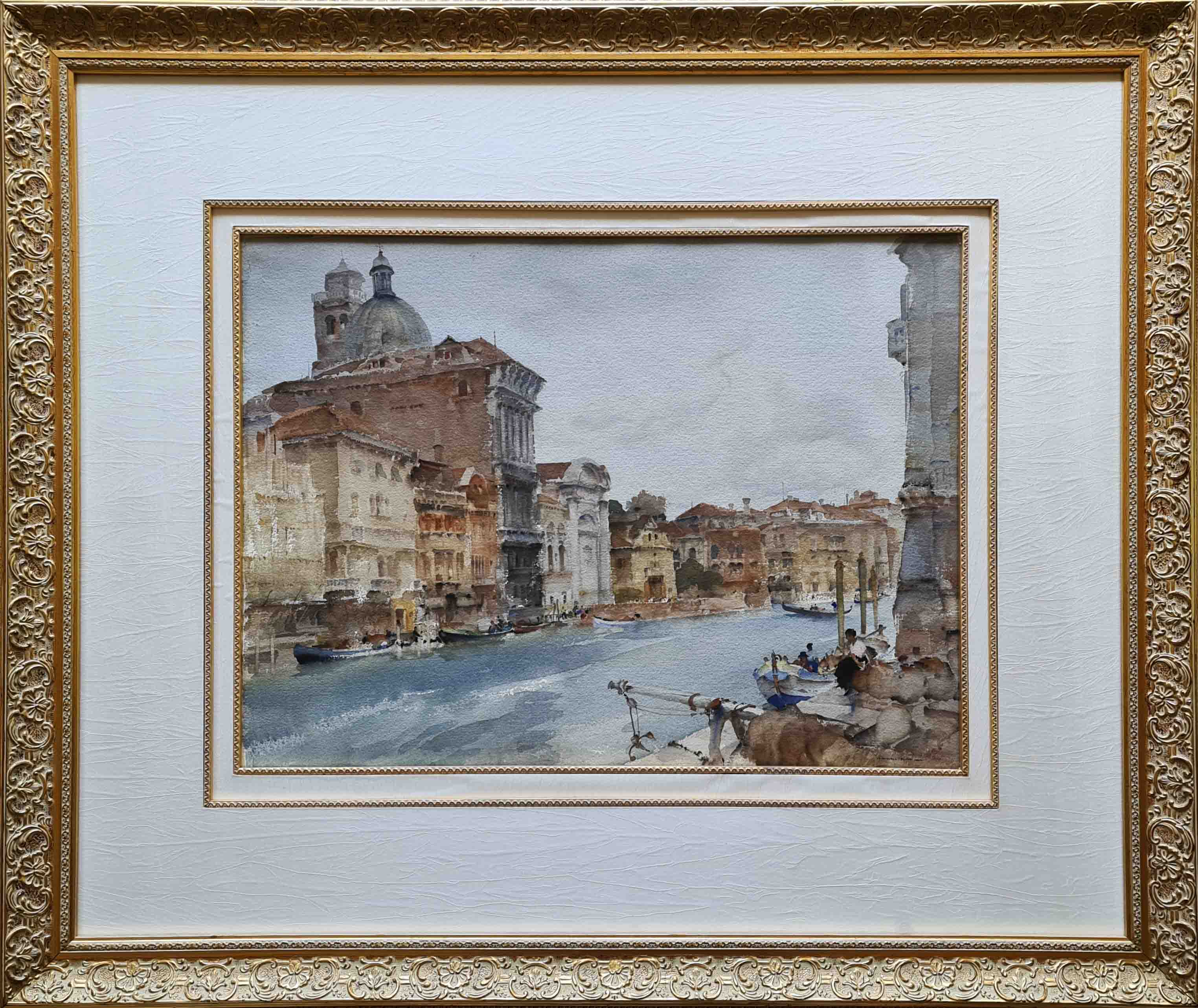 russell flint, original painting, Palazzo, San Geremia, Grand Canal, Venice