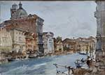 originals , painting, sir william russell flint, palazzo, grand canal venice, cecilia