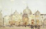 original watercolour, sir william russell flint, Piazza San Marco, Venice