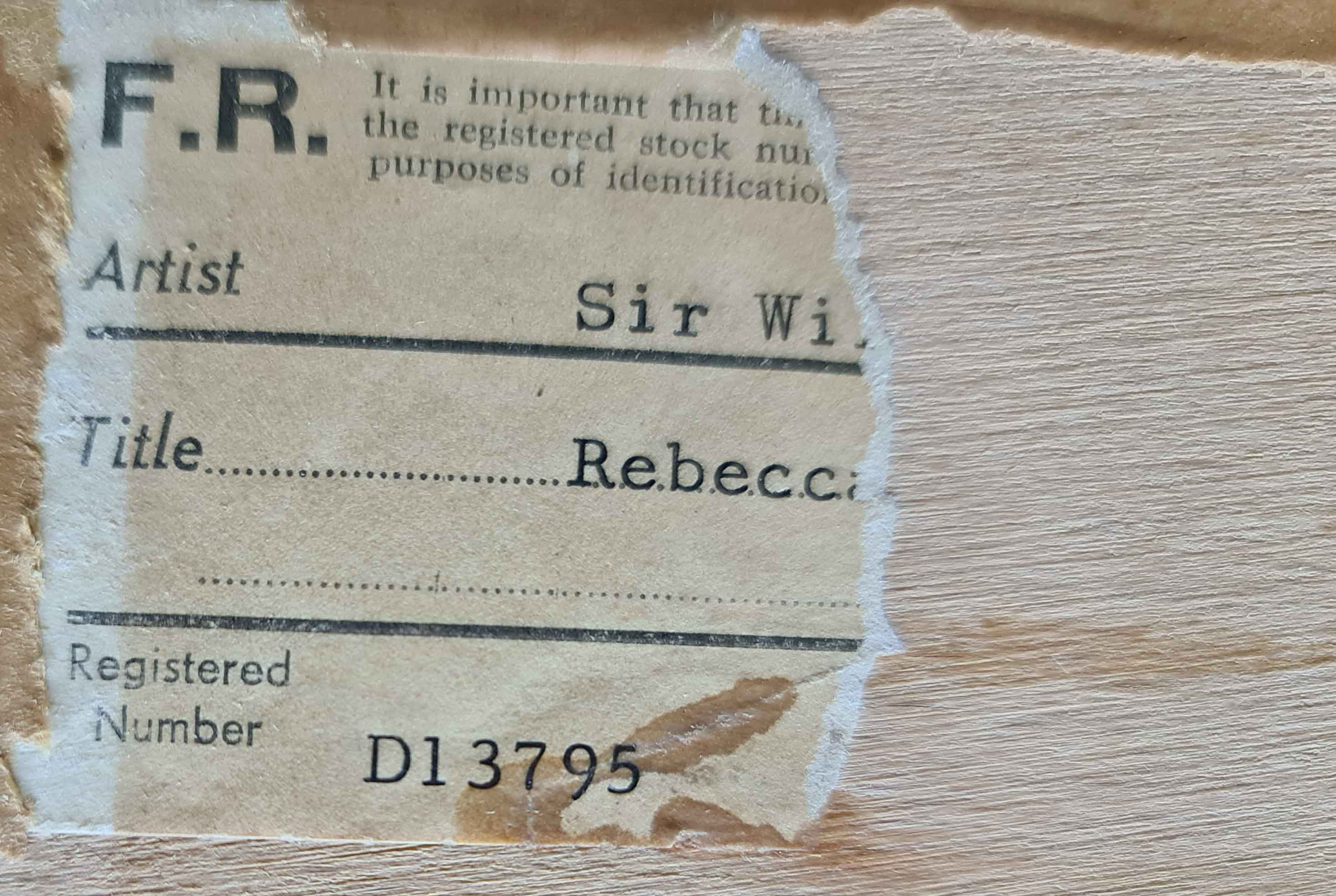 russell flint, original painting,Rebecca at Aigueze, France, frostandreed-label