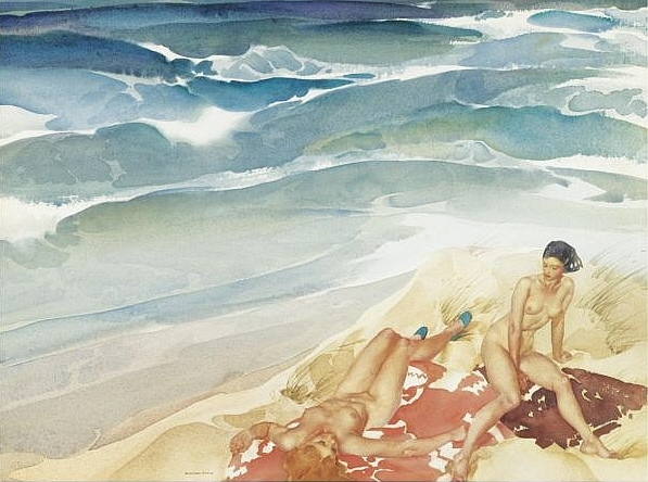 russell flint painting Sandy Bastion