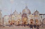 original painting, sir william russell flint, Piazza San Marco, Venice