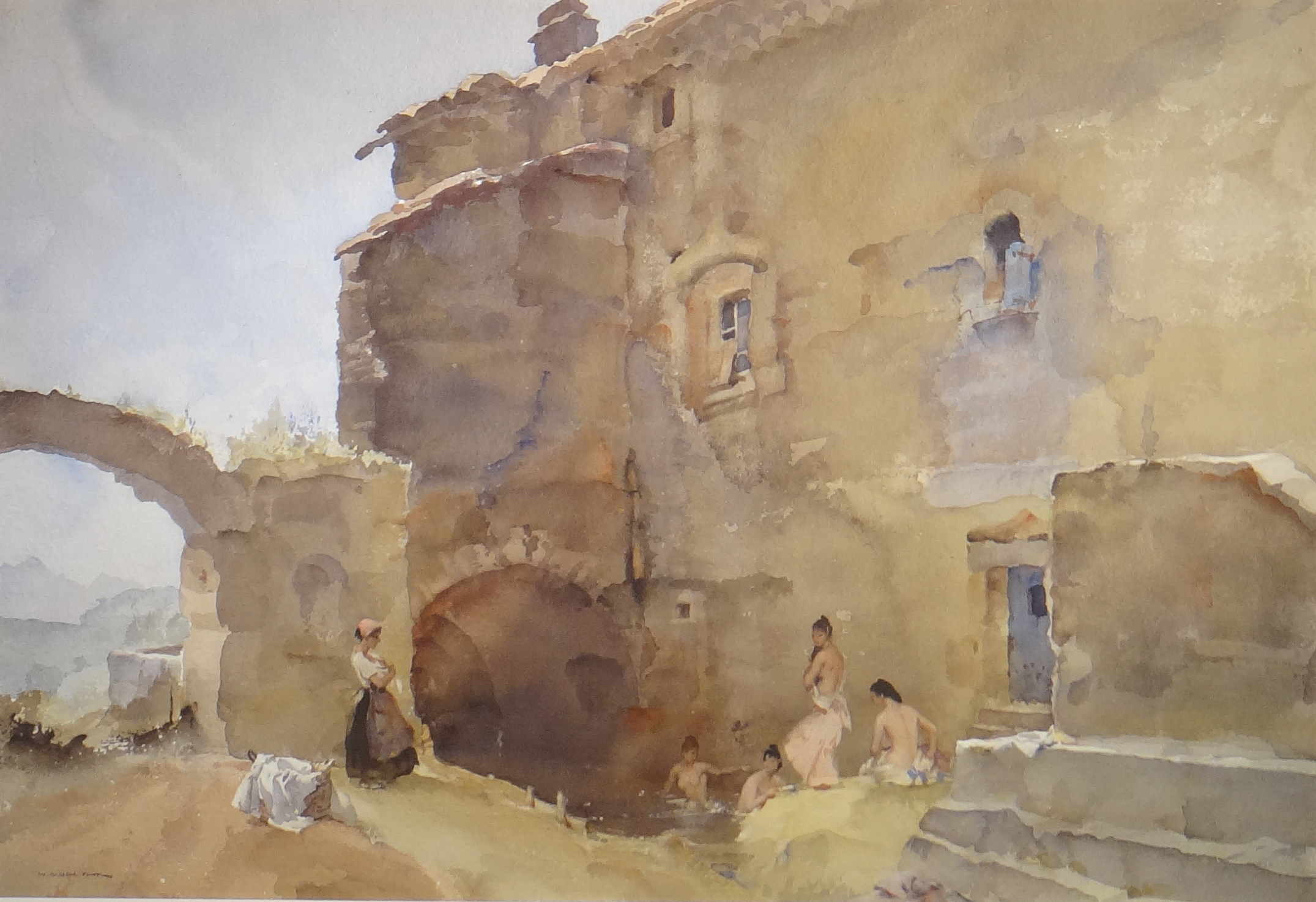 William Russell Flint - The Secret Bathing Place | William