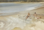 russell flint Two Sisters and a Jetty