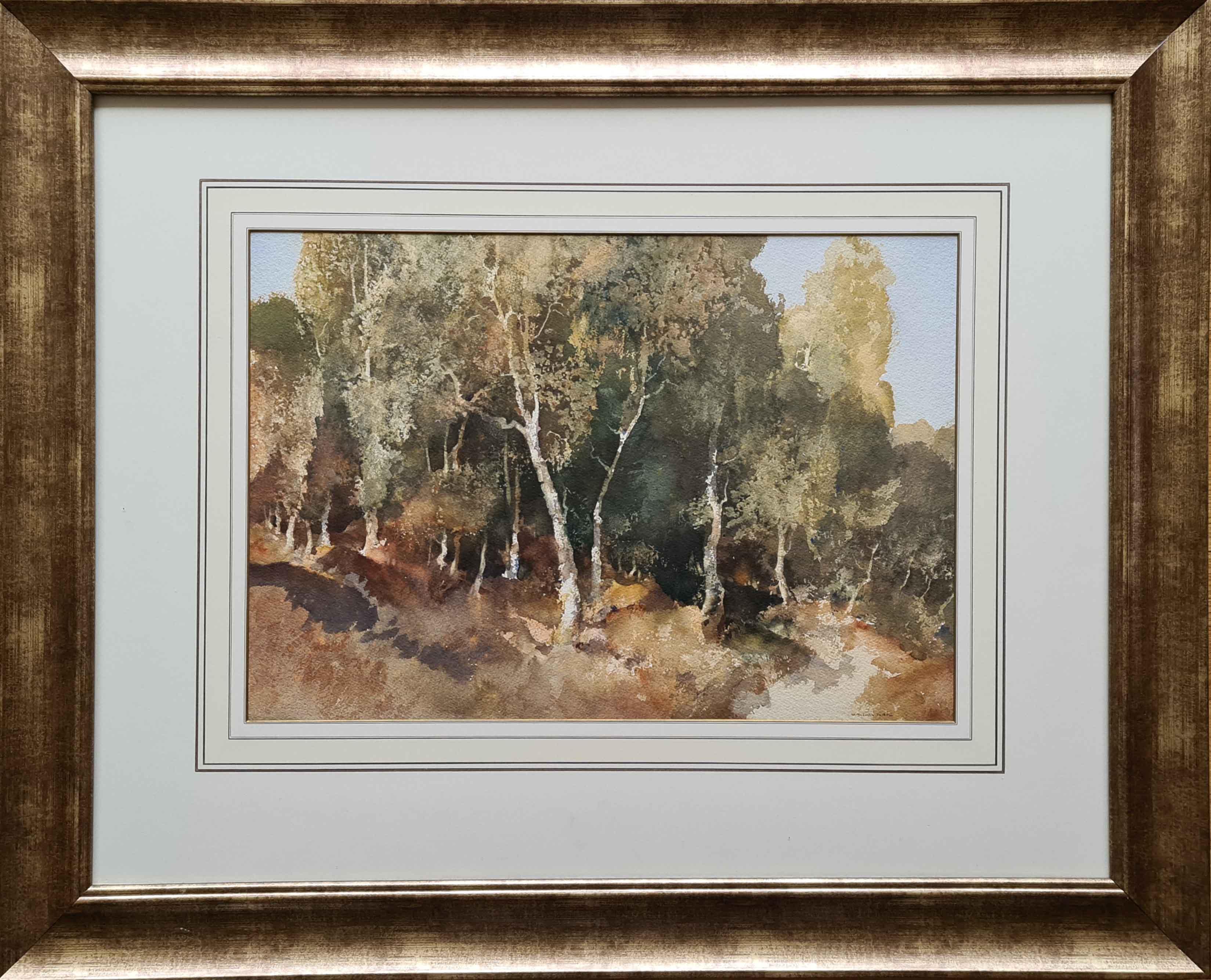 original watercolour Woodland, Surrey