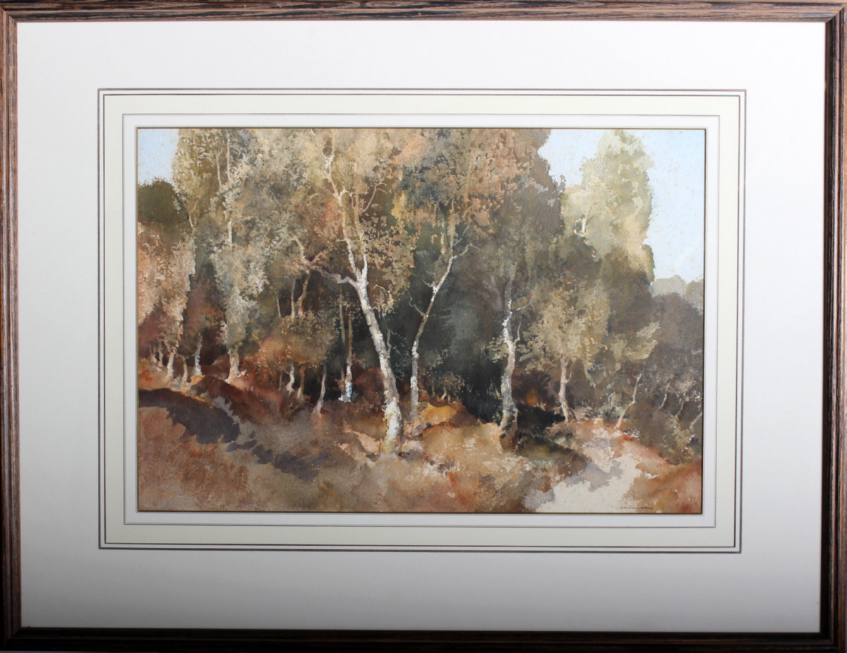 original watercolour Woodland, Surrey