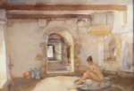 sir william russell flint, nude, originals watercolour painting