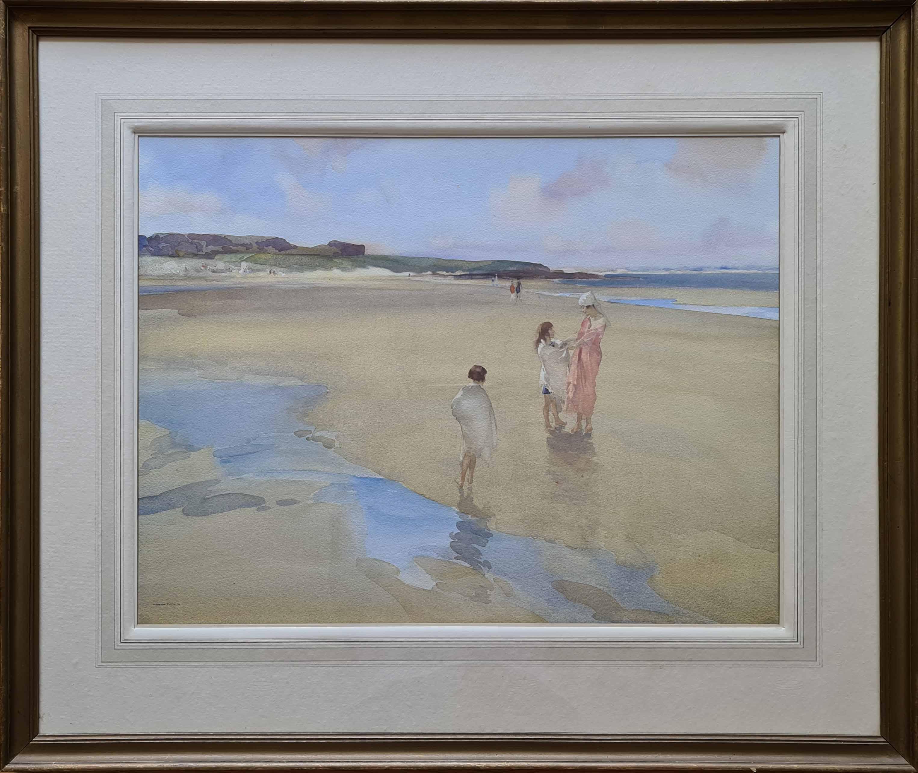 bamburgh, original, painting
