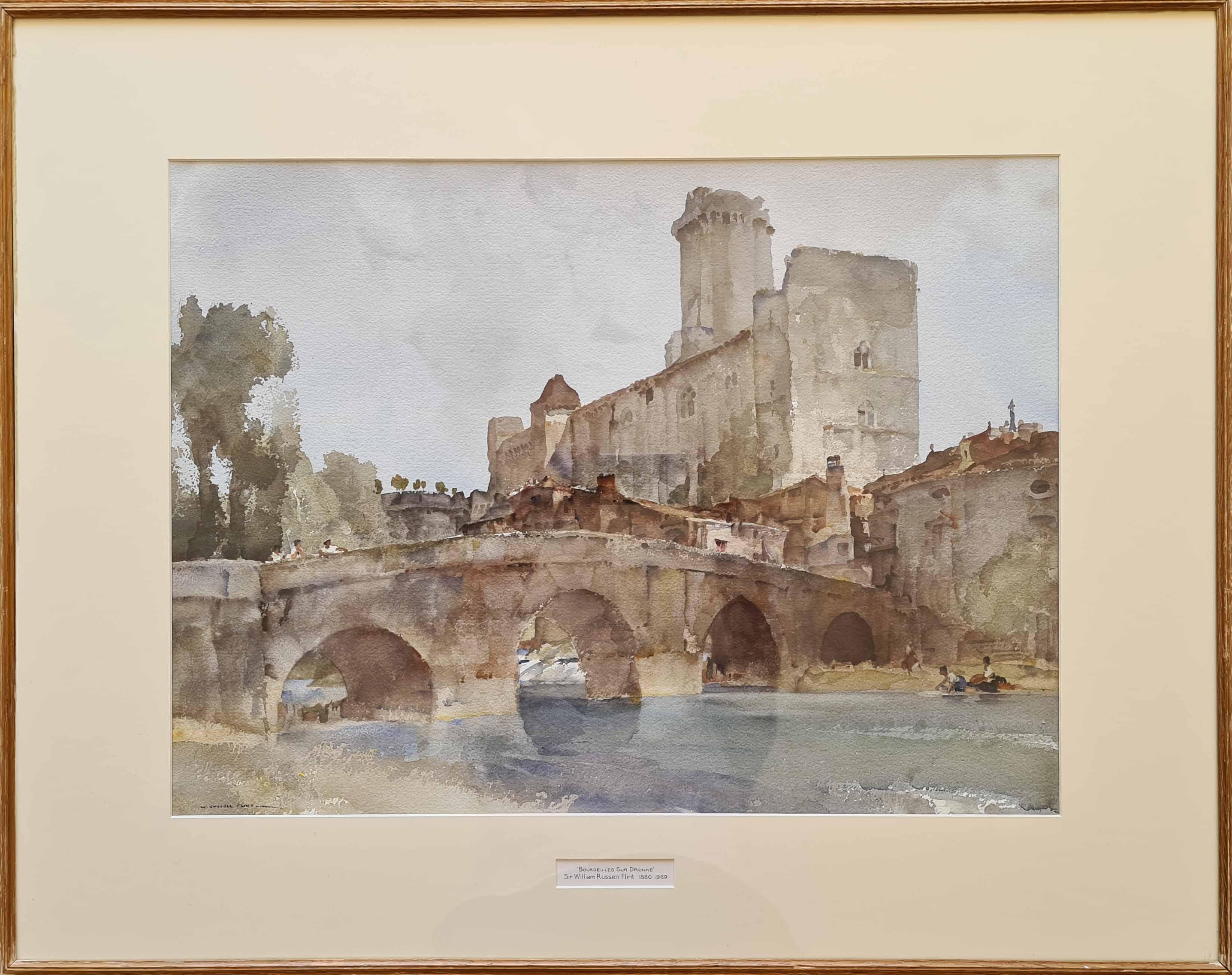 sir william russell flint paintings, Bordeilles sur dronne