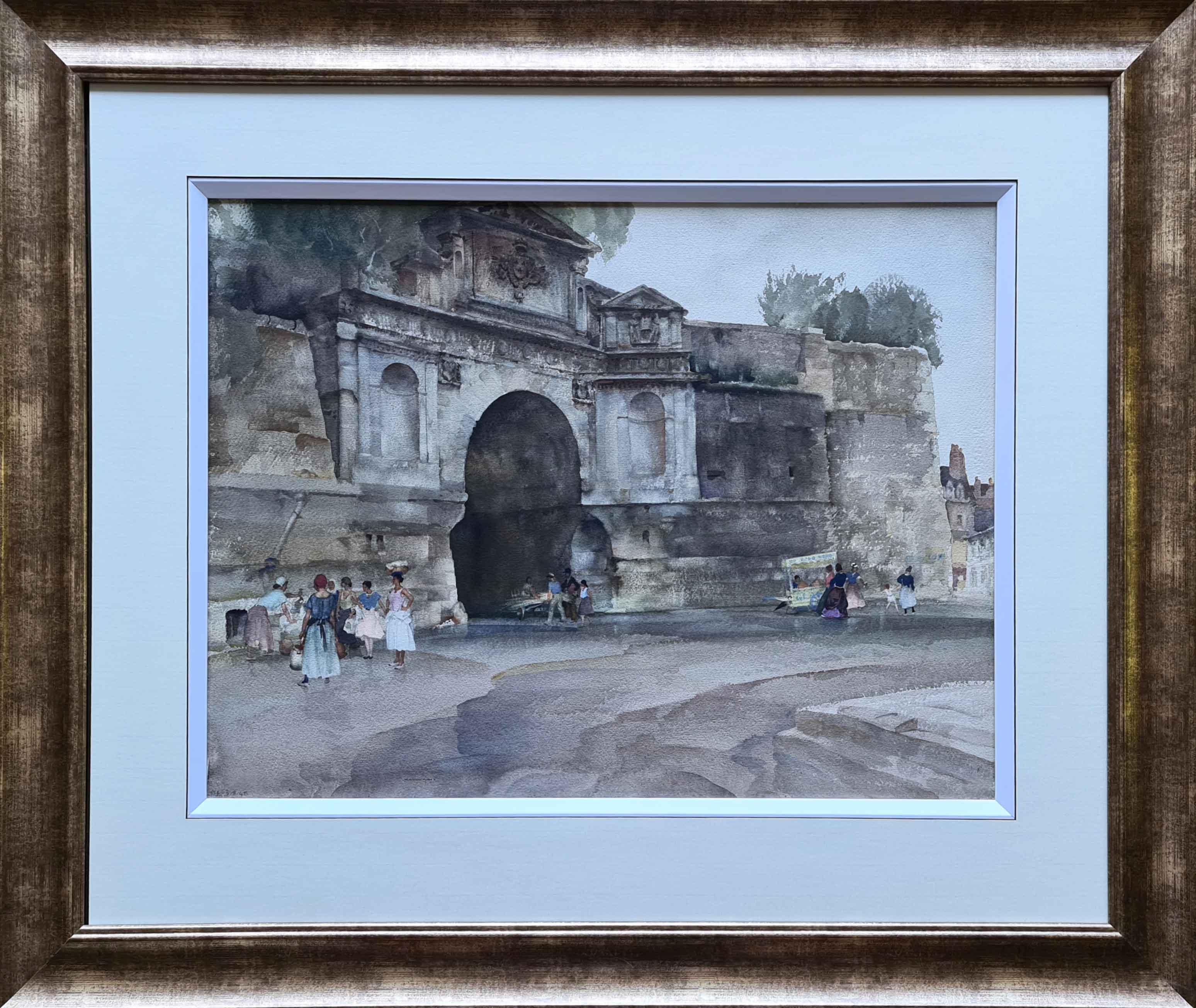 russell flint originals, La Porte Chapelle, Compiegne