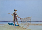 sir william russell flint, painting, the shrimper