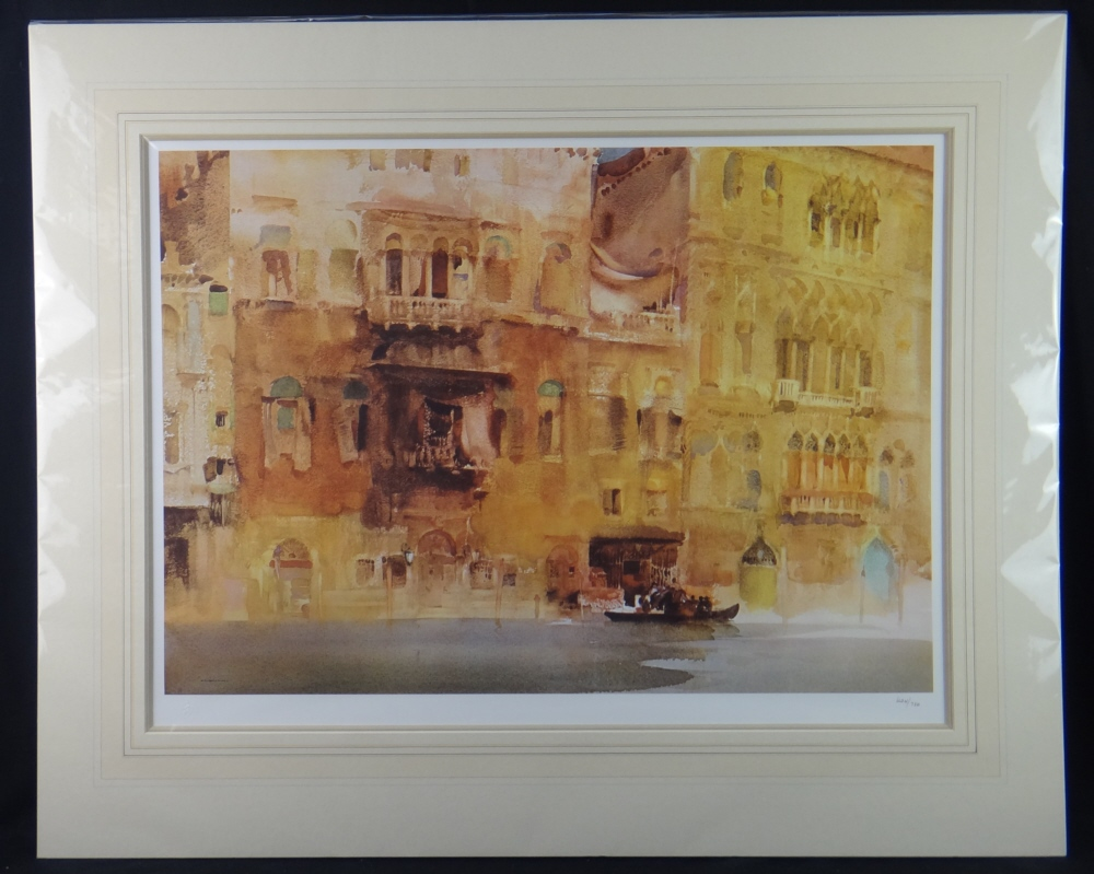 russell flint  palazzo on the grand canal, venice, print mounted