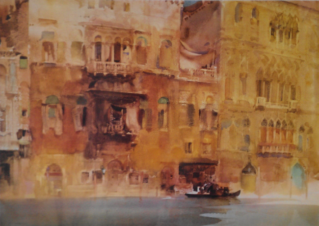 Russell Flint, limited edition print, Palazzo on the Grand Canal