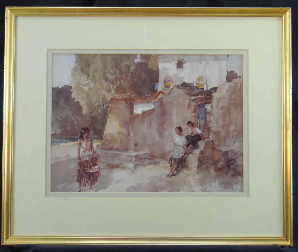 sir william russell flint, the passer by, framed print
