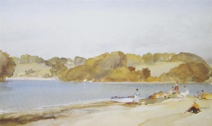 sir william russell flint picnic at turnaware point