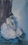 sir william russell flint, pink frock, limited edition print