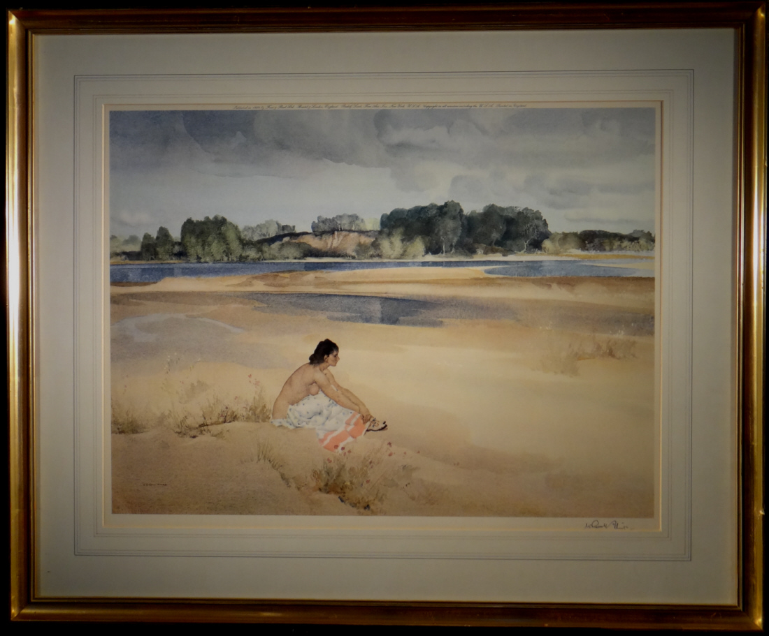 signed limited edition print, Anne-Marie by The Loire, sir william russell flint