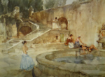 sir william russell flint chateau garden, Languedoc, signed limited edition print