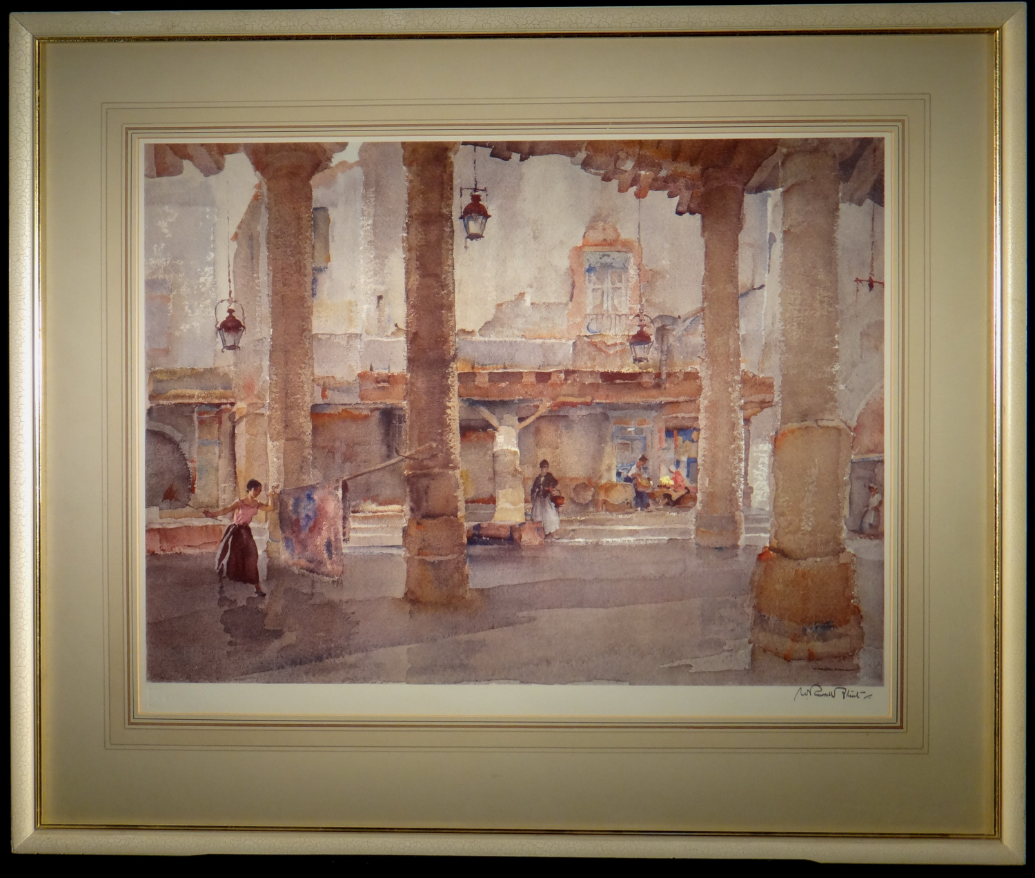 signed limited edition print, Market Hall, Cordes, sir william russell flint