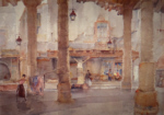 sir william russell flint Market Hall Cordes signed limited edition print