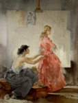 sir william russell flint two models signed limited edition print