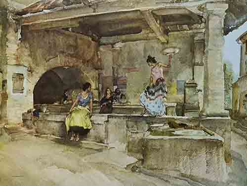signed, limited edition,print, sir william russell flint Provencal Caprice signed limited edition print