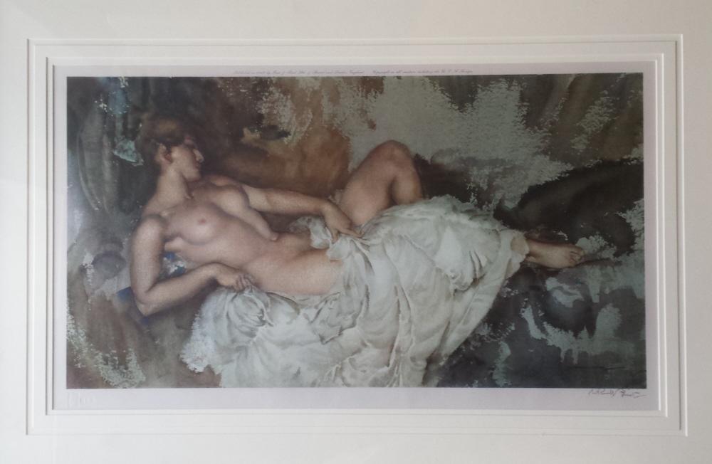 russell flint reclining nude I print