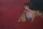 russell flint, Red Background, print