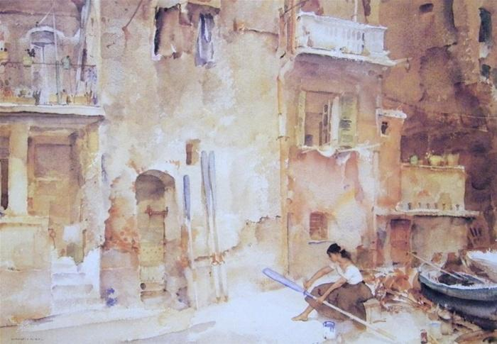 sir william russell flint repaintingoarblades print