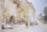 sir william russell flint, Rival Tale Bearers, Le Castellet calendar print