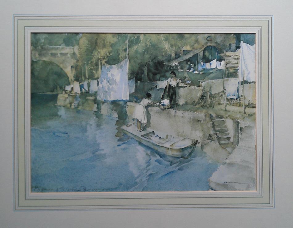 russell flint riverside washing, laverdac, print