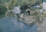 sir william russell flint riverside washing, Laverdac, limited edition print