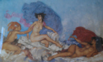 russell flint, Rococo Aphrodite, print