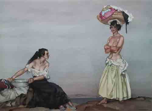 sir william russell flint rosa and marissa signed limited edition print
