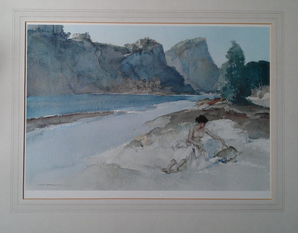 russell flint roxanne by the ardeche, print