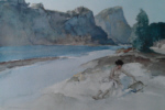 sir william russell flint Roxanne by the Ardeche limited edition print